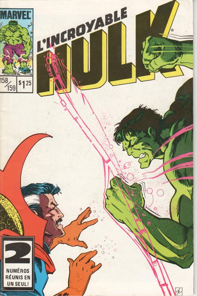 Couverture de L'incroyable Hulk (Éditions Héritage) -158159- ... D'étranges journées !