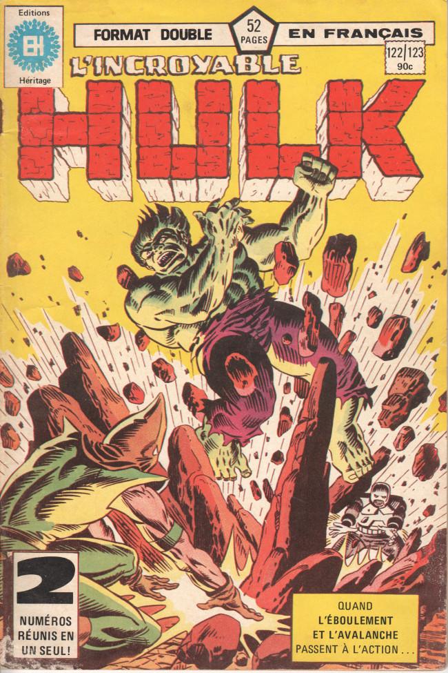 Couverture de L'incroyable Hulk (Éditions Héritage) -122123- Je sens la Terre remuer...