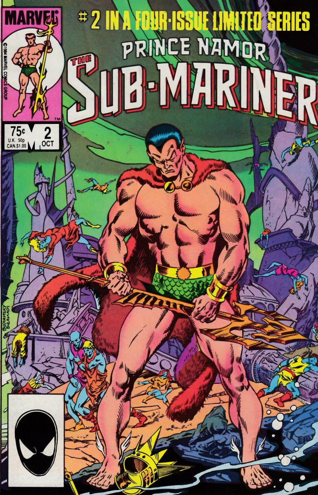 Couverture de Prince Namor, the sub-mariner (1984) -2- The Once and Future Man!