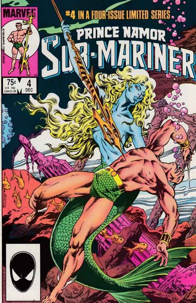 Couverture de Prince Namor, the sub-mariner (1984) -4- The Road Not Taken