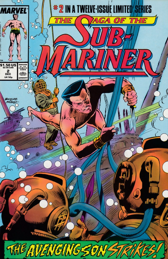 Couverture de Saga of the sub-mariner (the) (1988) -2- Avenging Son