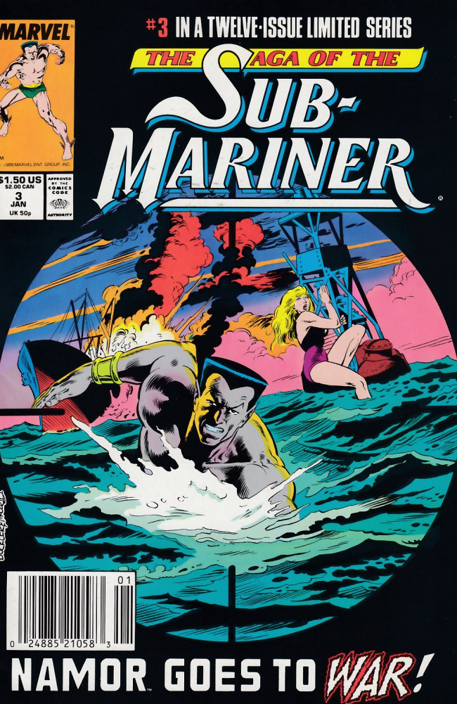 Couverture de Saga of the sub-mariner (the) (1988) -3- A Prince in New York