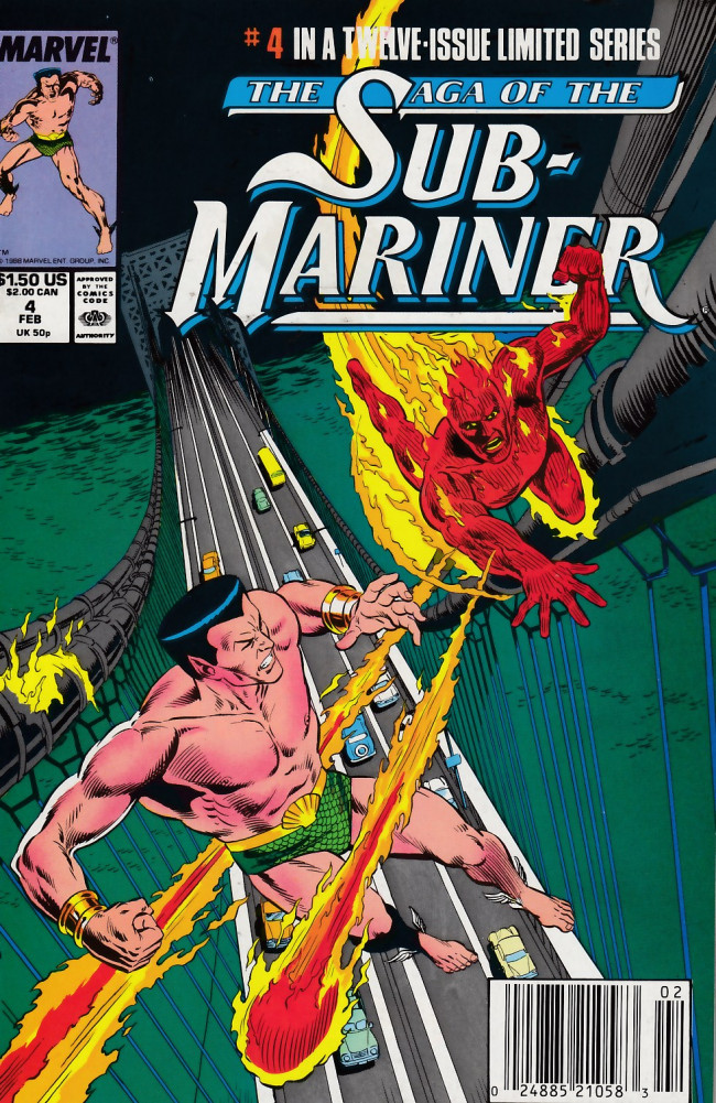 Couverture de Saga of the sub-mariner (the) (1988) -4- A Fire on the Water