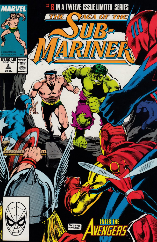 Couverture de Saga of the sub-mariner (the) (1988) -8- Avengers