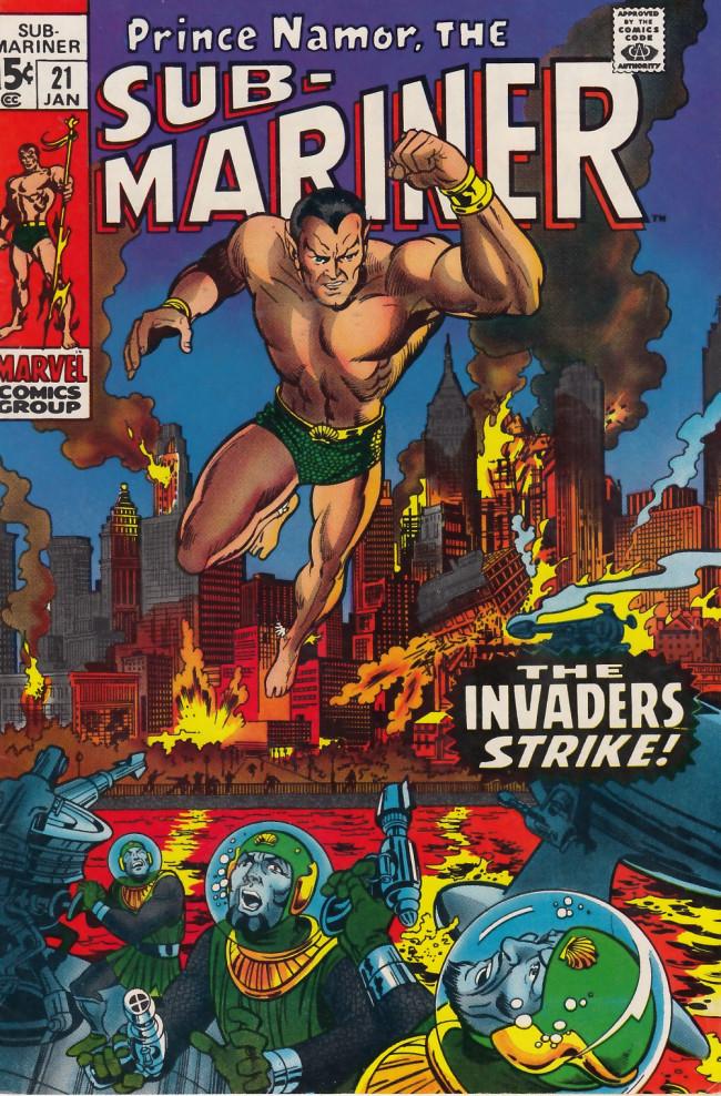 Couverture de Sub-Mariner Vol.1 (Marvel - 1968) -21- Invasion From the Ocean Floor