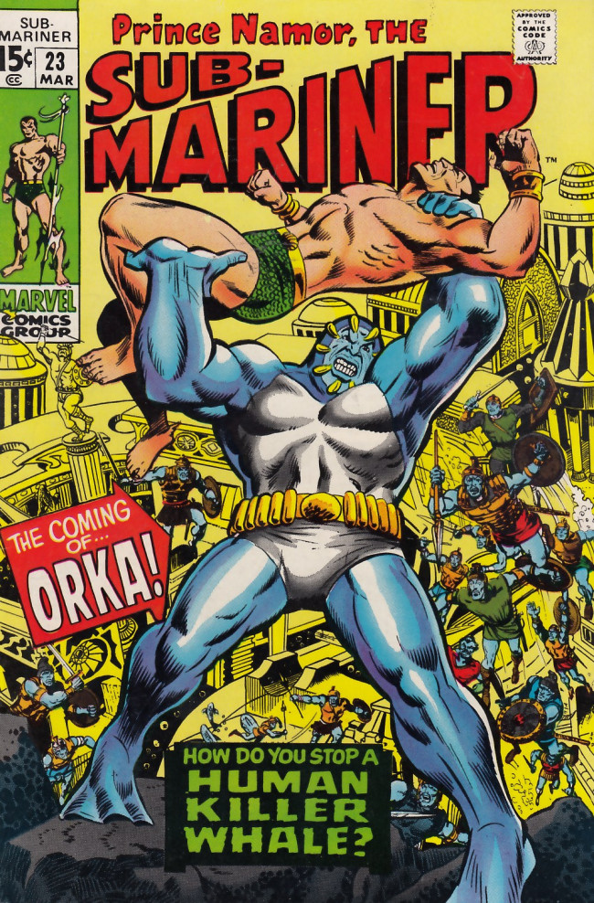 Couverture de Sub-Mariner Vol.1 (Marvel - 1968) -23- The Coming of Orka