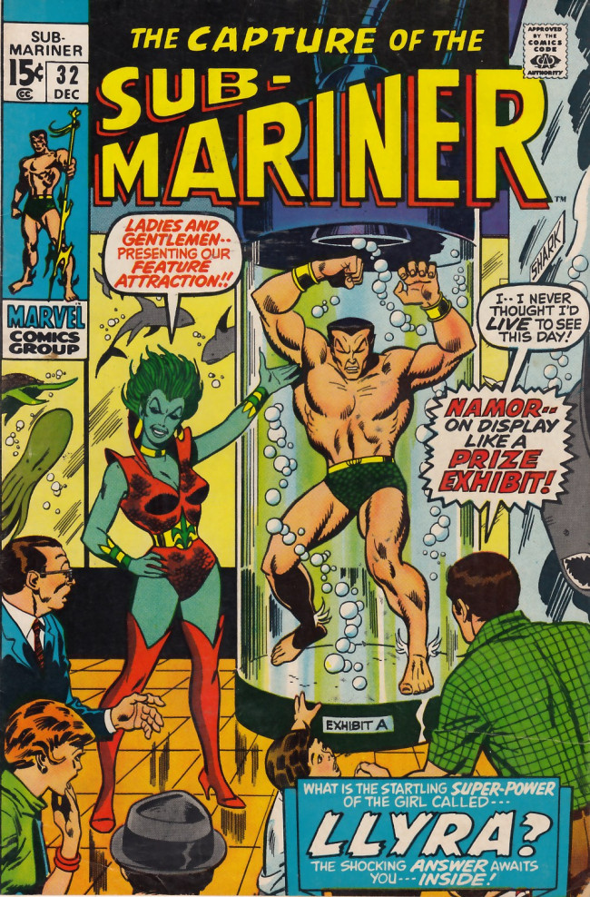 Couverture de Sub-Mariner Vol.1 (Marvel - 1968) -32- Call Her Llyra, Call Her Legend