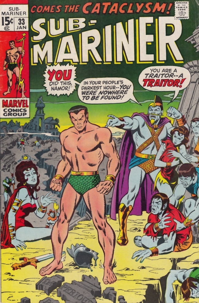 Couverture de Sub-Mariner Vol.1 (Marvel - 1968) -33- Come the Cataclysm