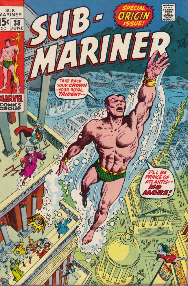 Couverture de Sub-Mariner Vol.1 (Marvel - 1968) -38- Namor Agonistes!