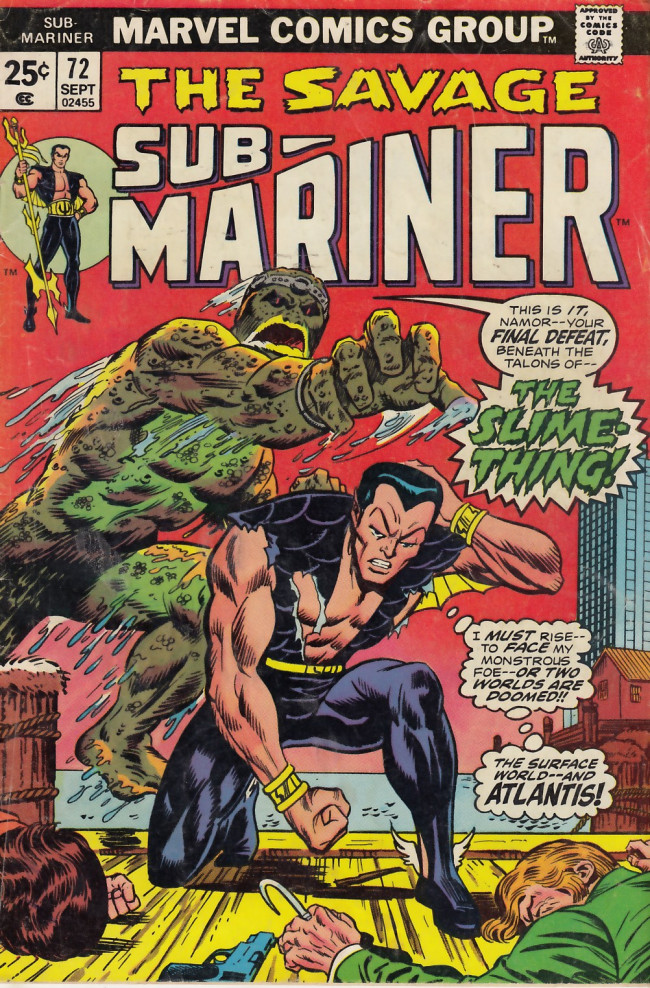 Couverture de Sub-Mariner Vol.1 (Marvel - 1968) -72- From the Void It Came...