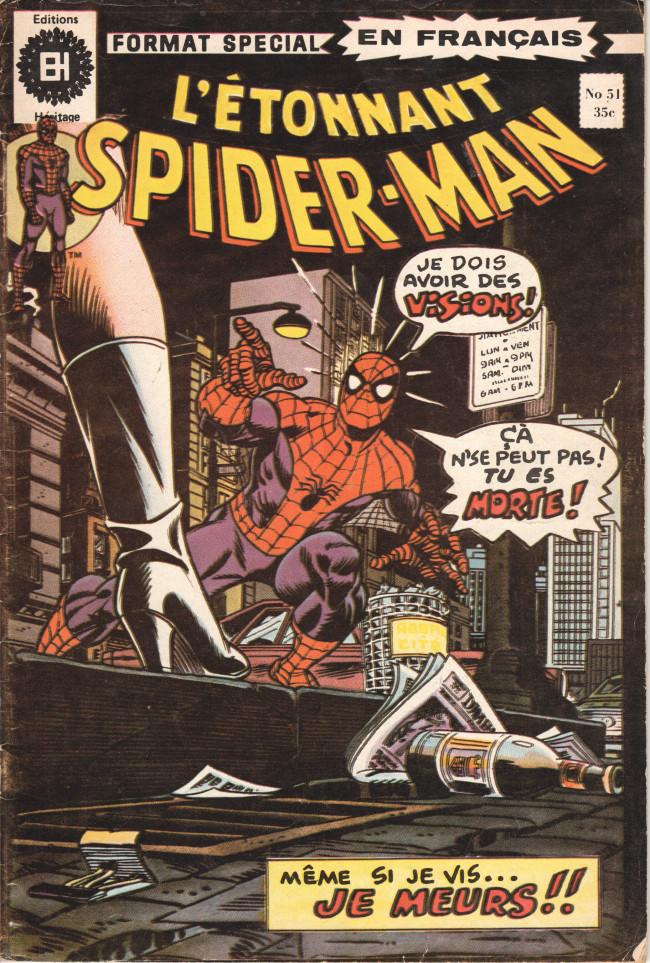 Couverture de L'Étonnant Spider-Man (Éditions Héritage) -51- Même si je vis, je meurs !