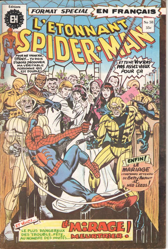 Couverture de L'Étonnant Spider-Man (Éditions Héritage) -58- Par un matin clair, on peut voir... le mirage !