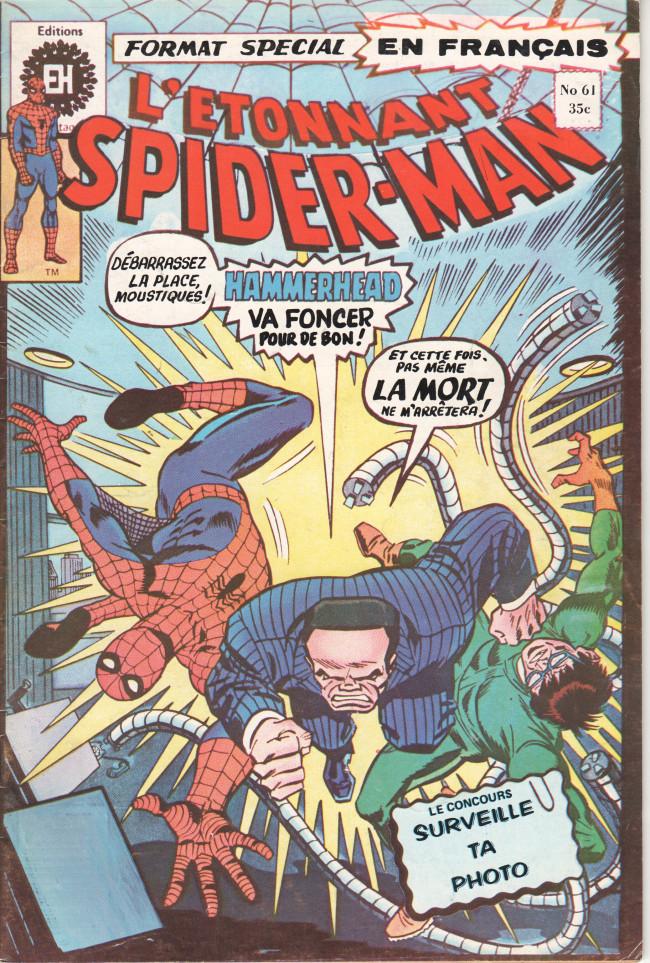 Couverture de L'Étonnant Spider-Man (Éditions Héritage) -61- Bras dessus bras dessous avec Dr Octopus