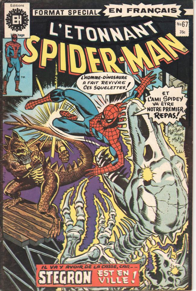 Couverture de L'Étonnant Spider-Man (Éditions Héritage) -67- Stegron rode par la ville !