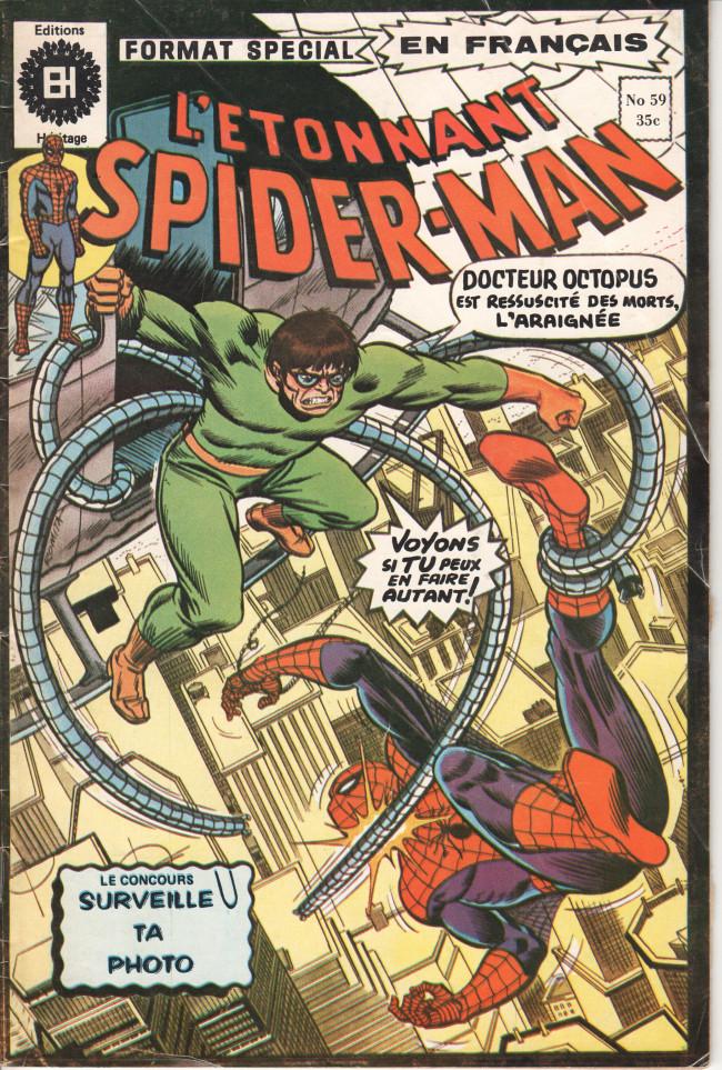 Couverture de L'Étonnant Spider-Man (Éditions Héritage) -59- Le Fantôme qui hantait Octopus
