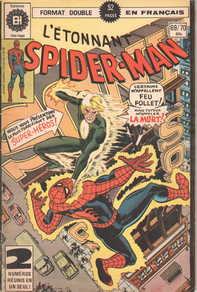 Couverture de L'Étonnant Spider-Man (Éditions Héritage) -6970- Meurtre dans le vent !