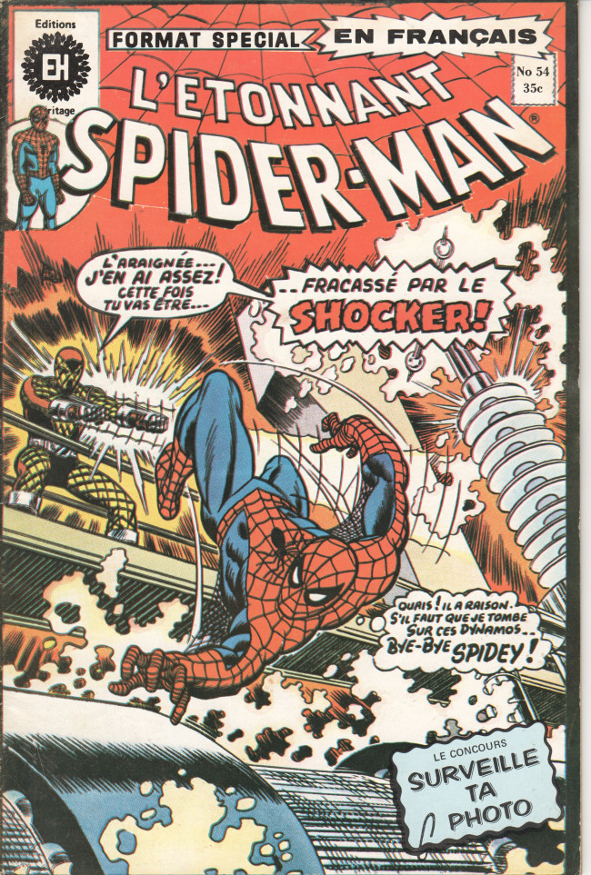 Couverture de L'Étonnant Spider-Man (Éditions Héritage) -54- Menacé par Shocker !