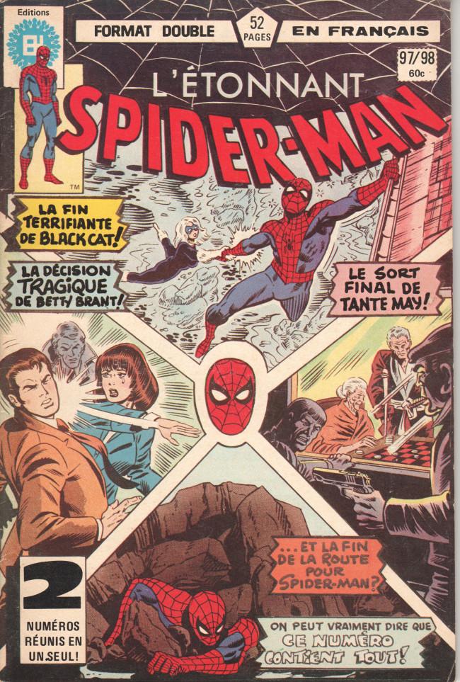 Couverture de L'Étonnant Spider-Man (Éditions Héritage) -9798- Le chat noir à neuf vies