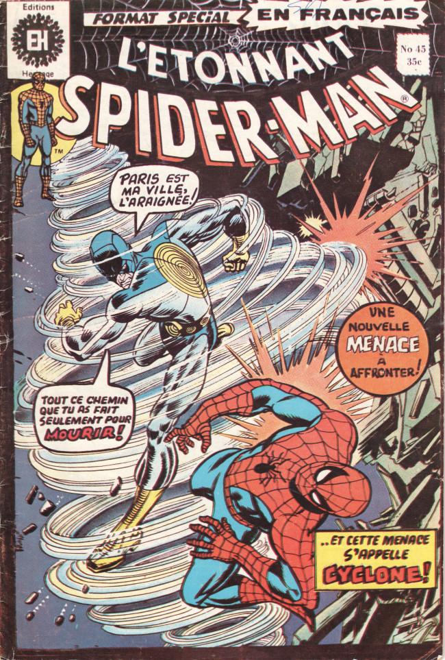 Couverture de L'Étonnant Spider-Man (Éditions Héritage) -45- ... et le vent crie : Cyclone !