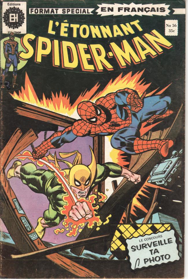 Couverture de L'Étonnant Spider-Man (Éditions Héritage) -56- Sandman frappe toujours deux fois !