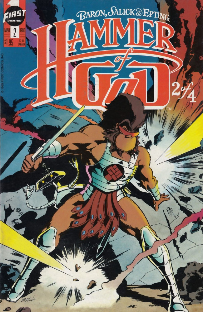Couverture de Hammer of God (1990) -2- Canterbury Bell