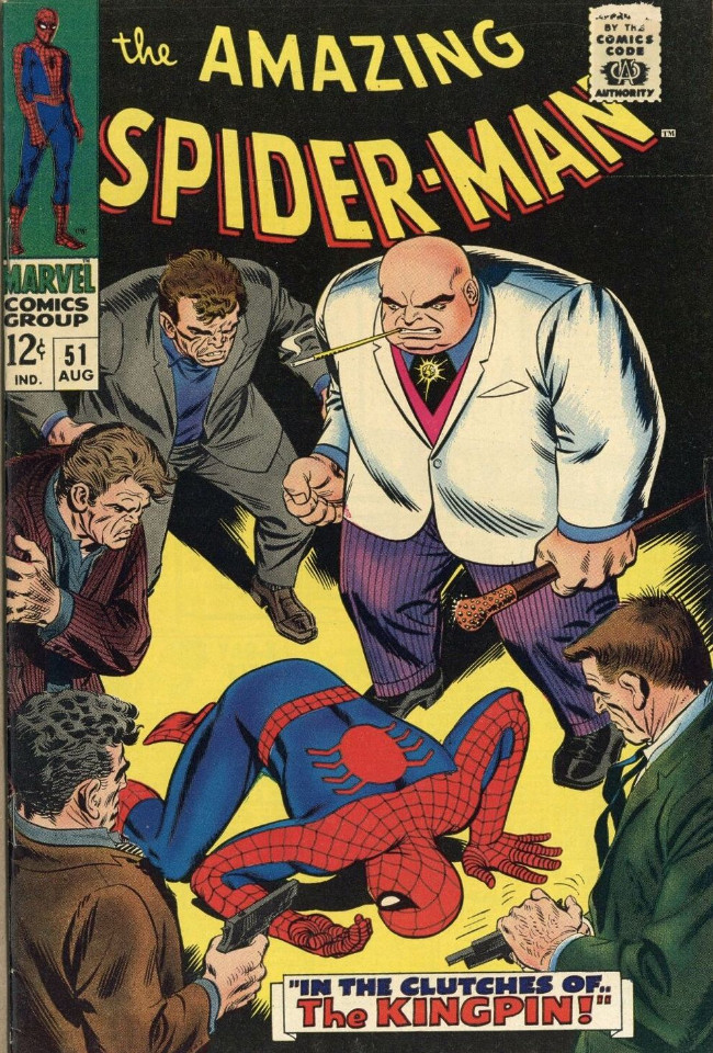 Couverture de The amazing Spider-Man Vol.1 (Marvel comics - 1963) -51- In The Clutches Of The Kingpin!
