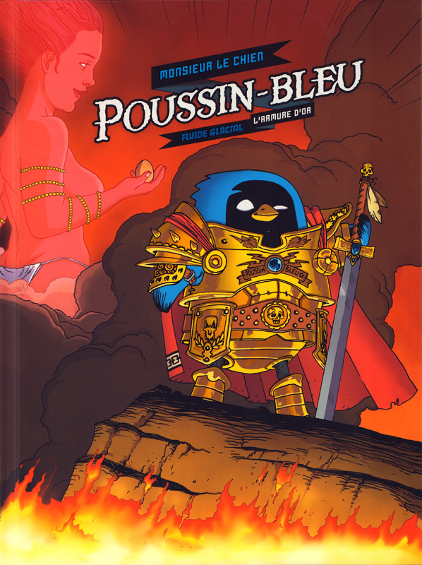 Couverture de Poussin bleu -1- L'armure d'or