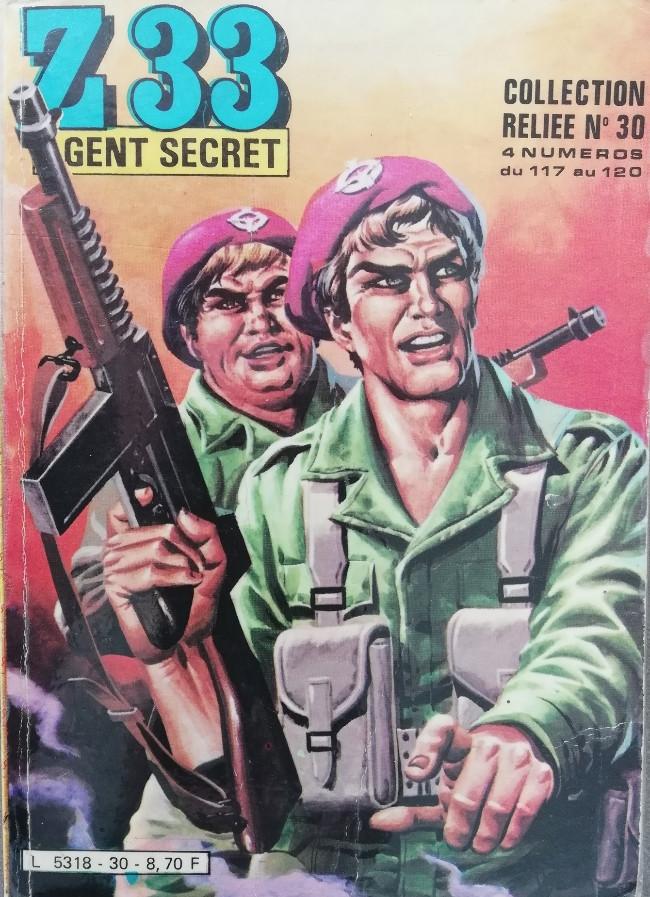 Couverture de Z33 agent secret -Rec30- Collection reliée N°30 (du n°117 au n°120)