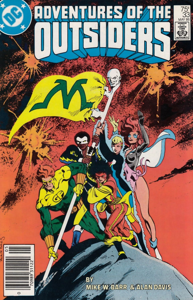 Couverture de Adventures of the Outsiders (DC comics - 1986) -33- A Tiny Deadly War!
