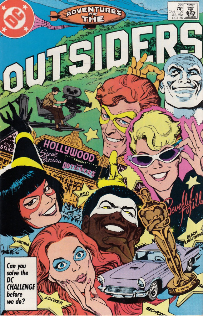 Couverture de Adventures of the Outsiders (DC comics - 1986) -38- Many Brave Hearts Are Asleep In The Deep
