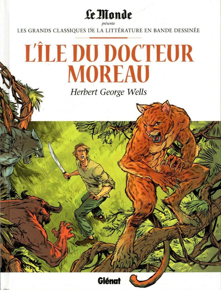 Couverture de Les grands Classiques de la littérature en bande dessinée (Glénat/Le Monde) -39- L'Île du Docteur Moreau