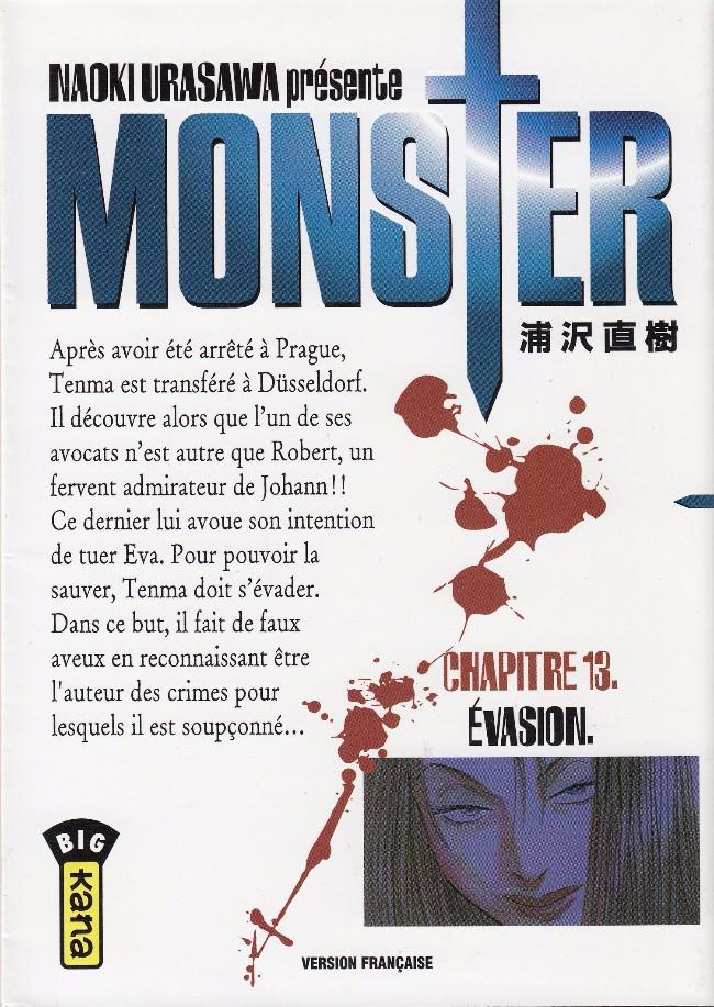 Couverture de Monster (Urasawa) -13- Évasion