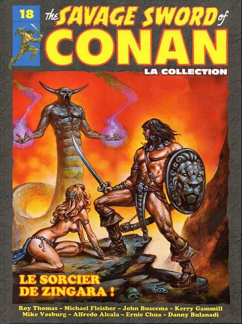 Couverture de Savage Sword of Conan (The) - La Collection (Hachette) -18- Le sorcier de zingara !