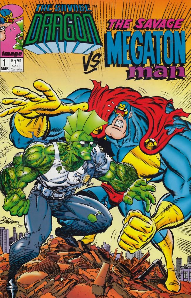Couverture de Savage Dragon vs. Savage Megaton Man (1993) -1- Savage Brawl