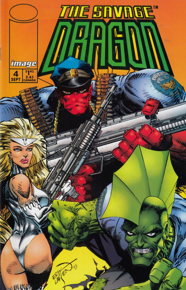 Couverture de Savage Dragon Vol.2 (The) (Image comics - 1993) -4- The Coming of Freak Force