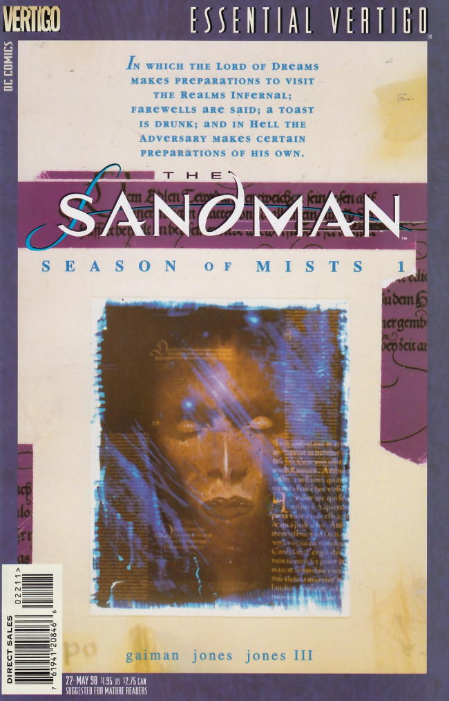 Couverture de Essential Vertigo: The Sandman (1996) -22- Season of Mists Chapter 1
