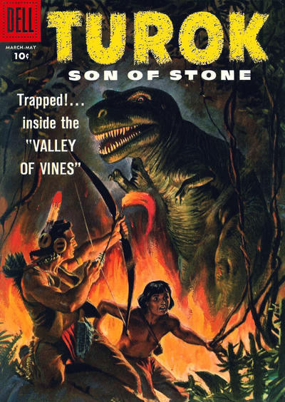 Couverture de Turok, son of stone (Dell - 1956) -11- Valley of Vines