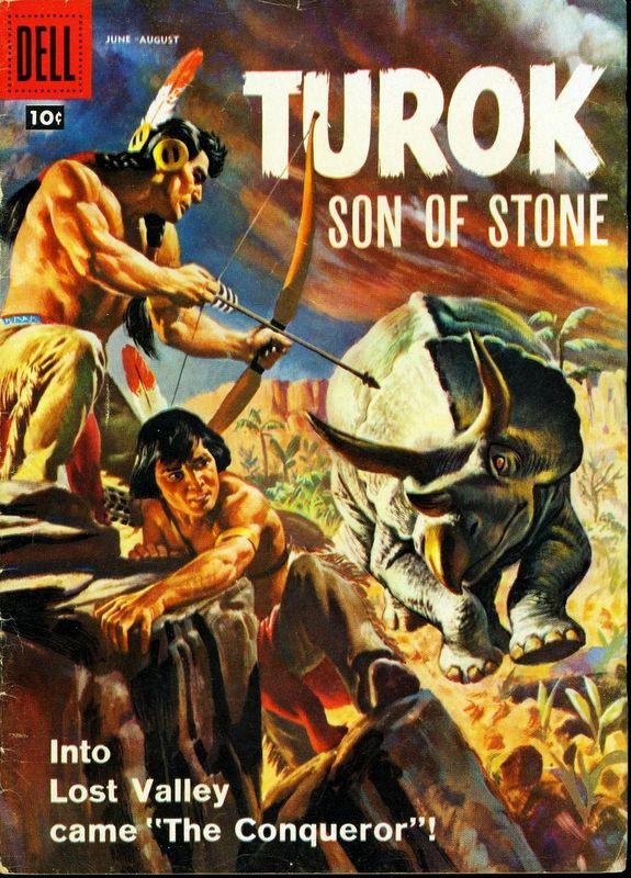 Couverture de Turok, son of stone (Dell - 1956) -12- The Conqueror