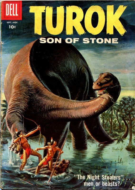 Couverture de Turok, son of stone (Dell - 1956) -13- The Night Stealers