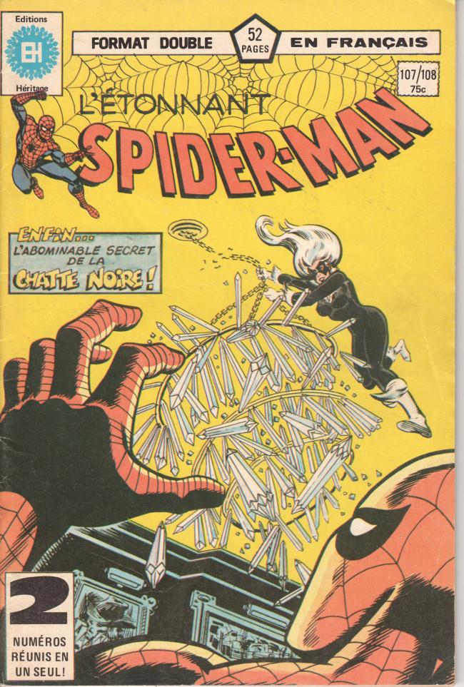 Couverture de L'Étonnant Spider-Man (Éditions Héritage) -107108- La Chatte Noire retombe toujours sur ses pieds !