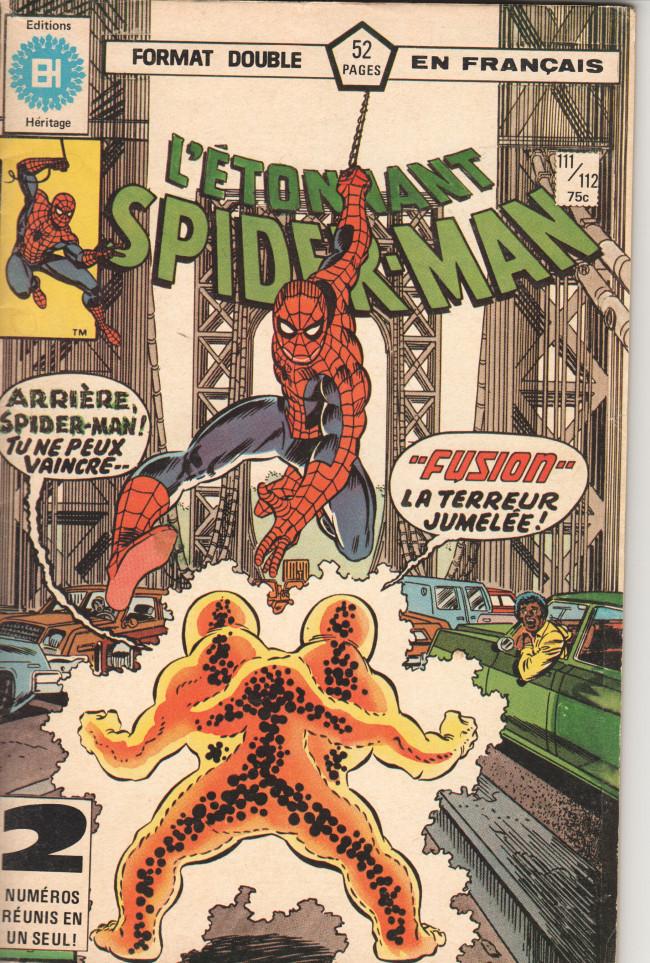 Couverture de L'Étonnant Spider-Man (Éditions Héritage) -111112- Fusion !