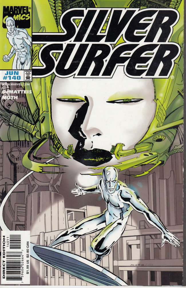 Couverture de Silver Surfer Vol.3 (Marvel comics - 1987) -140- Sun Rise and Shadow Fall: chapter 1