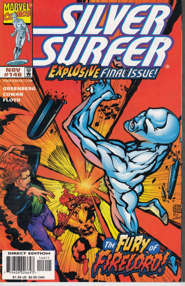 Couverture de Silver Surfer Vol.3 (Marvel comics - 1987) -146- Fire in the Sky