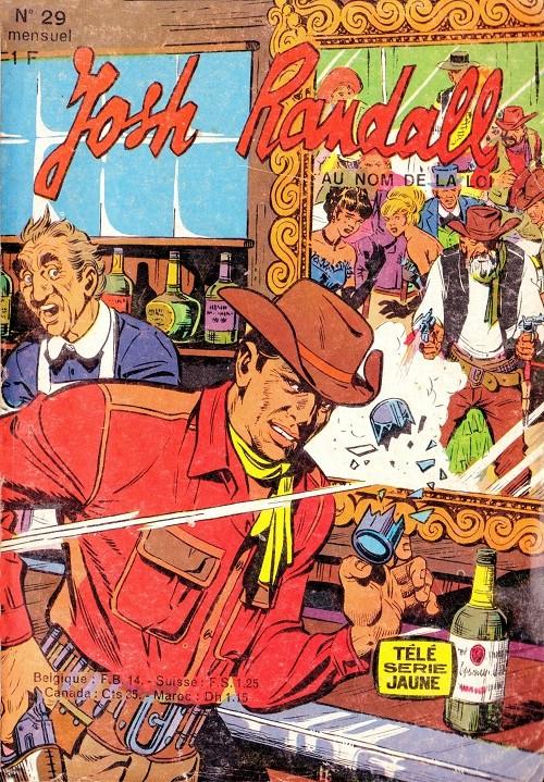 Couverture de Télé série jaune (Au nom de la loi) -29- Josh Randall : l'homme au bandeau noir