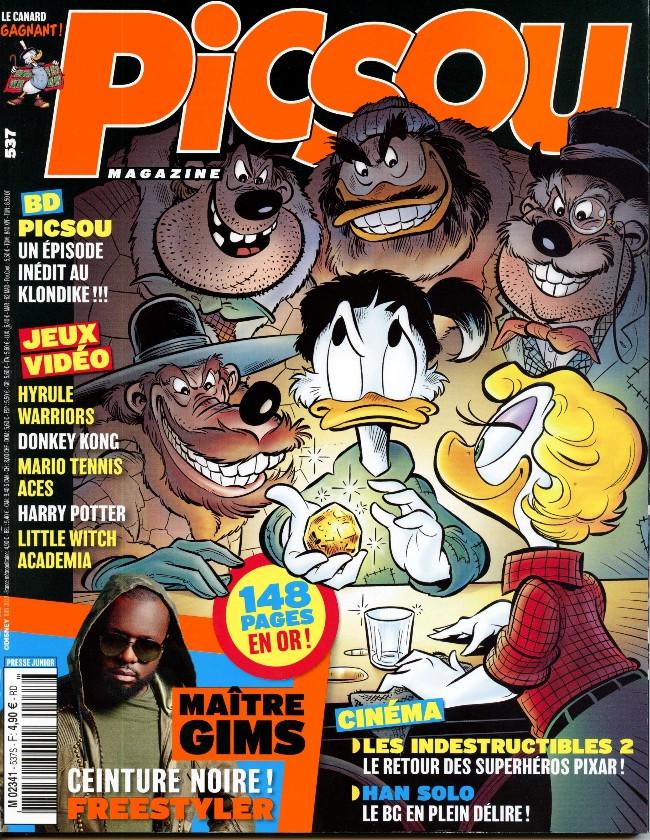 Couverture de Picsou Magazine -537- Picsou et les mystères de l'Atlantide !