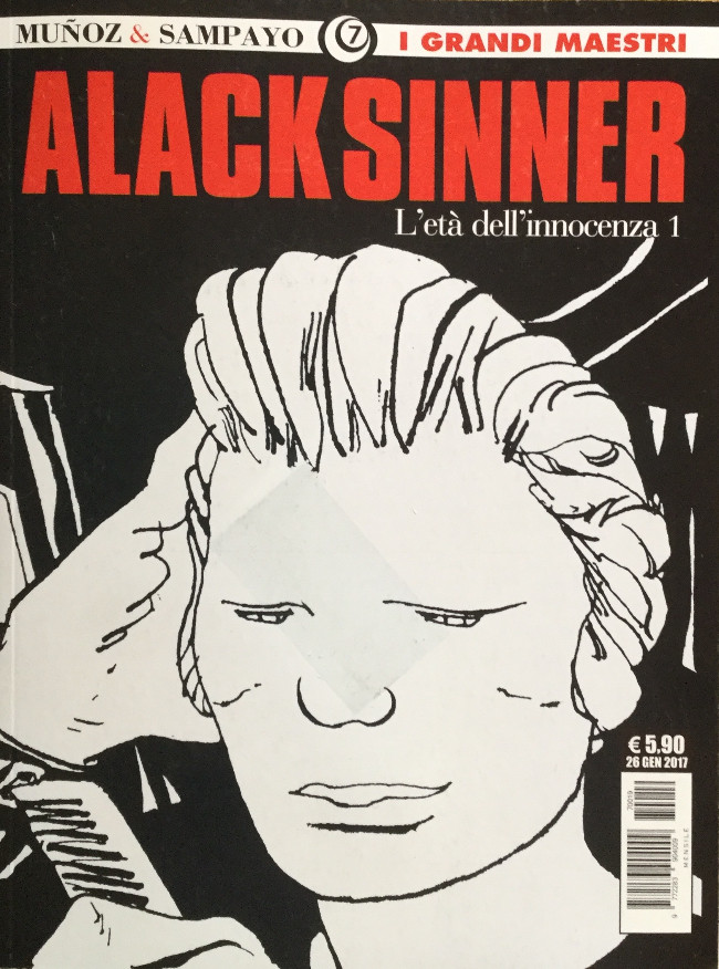 Couverture de Grandi Maestri (I) -7- Alack Sinner, L'età de l'innocenza