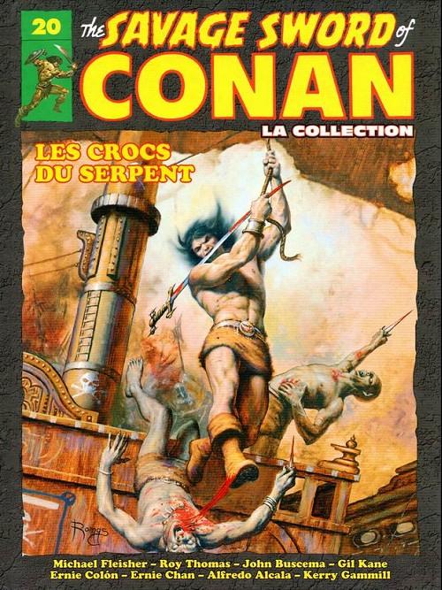 Couverture de Savage Sword of Conan (The) - La Collection (Hachette) -20- Les crocs du serpent