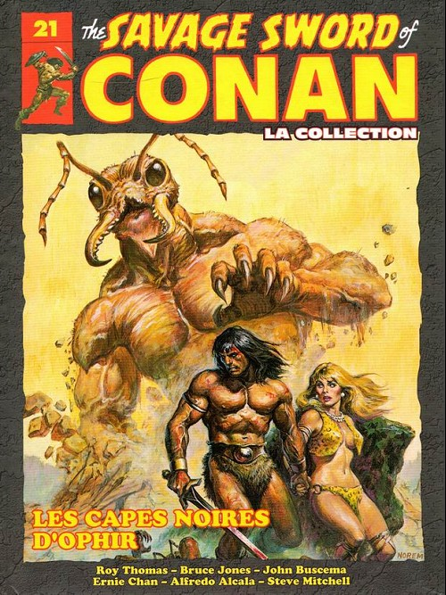 Couverture de Savage Sword of Conan (The) - La Collection (Hachette) -21- Les capes noires d'ophir