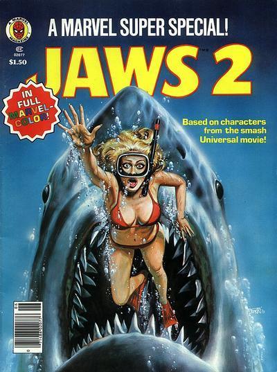Couverture de Marvel Comics Super Special Vol 1 (1977) -6- Jaws 2