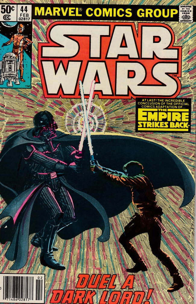 Couverture de Star Wars (1977) -44- Duel a Dark Lord!
